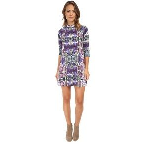 Free People Interlock Fiesta Floral Casual Dress